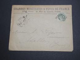 FRANCE - Enveloppe Commerciale De Paris Au Tarif Imprimé En 1902 , Type Blanc - A Voir - L 5778 - Marcofilia (sobres)