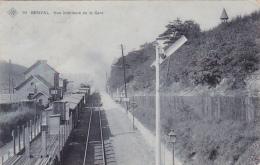 Genval   Vue Intérieur De La Gare Train Circulé En 1910 - Rixensart