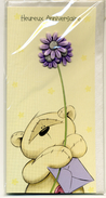 4 CP Modernes Neuves Thème Anniversaire Sujet En Relief Ourson - Gift Cards