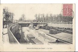 Cp 78 ST SAINT GERMAIN EN LAYE La Gare ( Trains Wagons Ligne De Chemin De Fer Pont Habitations ) - St. Germain En Laye