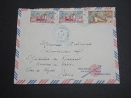 FRANCE / COTE DES SOMALIS - Enveloppe De Djibouti Pour Paris En 1951 , Affranchissement Plaisant - A Voir - L 5783 - Côte Française Des Somalis (1894-1967)