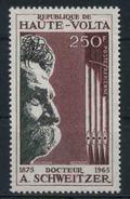 1967 Alto Volta, Morte Dottor Albert Schweitzer , Serie Completa Nuova (**) - Alto Volta (1958-1984)