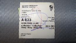Bus Ticket From THAILAND (Chiang Mai) - Bus Fahrkarte Year 2010 - Transportation