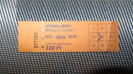 Bus/Metro Ticket From HUNGARY (Budapest) - Bus/U-bahn Fahrkarte Year 2010 - Transportation