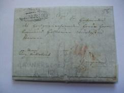 AUSTRIA 1825 VORPHILA ENTIRE GUNNERSDORF? TO LINZ - ...-1850 Prefilatelía