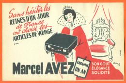 Buvard Marcel Avez - Reines D´un Jour , Emission Jean Nohain ORTF - Parfums & Beauté