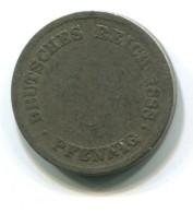 1888 Germany 5 Pfennig Coin - [ 2] 1871-1918 : German Empire