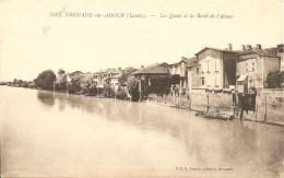 Cpa Grenade Sur Adour Les Quais Et Le Bord De L'adour - Sonstige Gemeinden