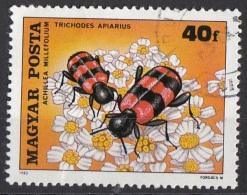Ungheria 1980 Sc.  Insetti Impollinatori Trichodes Apairius And Yarrow Achillea Mille Nuovo Preoblt. Magyarposta Hungary - Insecten