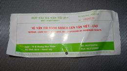 Bus Ticket From Vietnam (Hanoi - Vien Tian In LAOS) - Bus Fahrkarte Year 2010 - Transportation