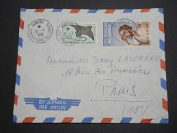 FRANCE / COTE DES SOMALIS - Enveloppe De Djibouti Pour La France En 1961 , Affranchissement Plaisant - A Voir - L 5795 - Côte Française Des Somalis (1894-1967)