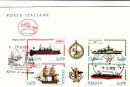ITALIE COSTRUZIONE NAVALE FDC TRIESTE 1978 /  4987 - Ohne Zuordnung