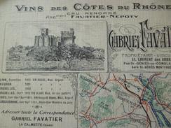 CPA 30 Gard La Calmette Pub Gabriel Favatier Vins Des Côtes Du Rhône - Autres Communes