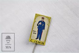 Vintage Netherlands Postbode/ Postman Advertising Needle Pin Badge - Transportes