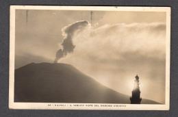 1927 NAPOLI IL VESUVIO ERUTTANTE CON FARO FP V SEE 2 SCANS NITIDO ANNULLO A TARGHETTA AGRICOLTORI... - Napoli