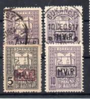 DR Dt. Bes. RÜMÄNIEN MiNr 3x + 4  Je O + 5 (*) + 4 * - Besetzungen 1914-18