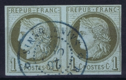 Colonies General Yv 14  Obl Used  Cachet Saint Denis Paire Reunion - Reunion Island (1852-1975)