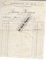 43 - Haute-loire - LAPTE - Facture MORIZON - Commerce De Bois - Fabrique De Parquets – 1930 - REF 254B - 1900 – 1949