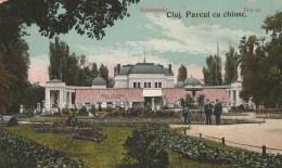 #BV5879 KOLOZSVAR, CLUJ-NAPOCA, PRAK WITH KIOSK, CHIOSC, PROMENADE, POST CARD, 1923, ROMANIA. - Romania