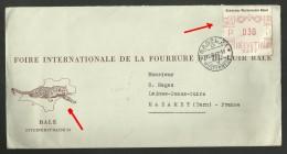 SCHWEIZ - Foire Fourrure Et Du Cuir / Lettre - Cover Illustration PANTHERE / 1947 - Félins