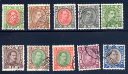 Iceland  Sc# 176-185  Used  1931 - Used Stamps