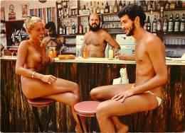 "-ref-R837 - Var - Ile Du Levant -  Snack Bar "" Le Minimum "" - Bars - Naturisme - Naturiste - Naturistes - Nu - Nus - - Altri Comuni"