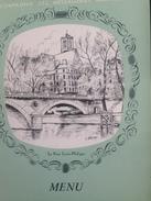 """Menu Vierge De La Compagnie Des Messageries Maritimes Illustration""""Les Ponts De Pariis"""" Le Pont Louis Philippe 1 Page RV - Menus"""