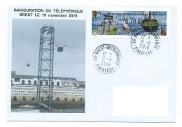 15428 - BREST - INAUGURATION DU TÉLÉPHÉRIQUE - 19 NOVEMBRE 2016 (1er Téléphérique Urbain De France) - Tramways
