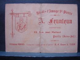 Pu. 62. Petite Carton Publicitaire De L'Hôtel De L'Image De Saint-Pierre à Pavilly - Publicités
