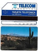 @+ Carte D´Argentine URMET - 100U (1991) - Neuve - Cactus CORTESIA 3000ex - Argentine