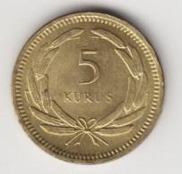 @Y@    Turkije   5  Kurus   1956   (4237)  Quality  MS 63 - Turkije
