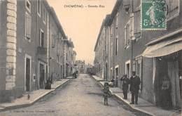 07 - ARDECHE / Chomérac - Grande Rue - Animée - Frankreich