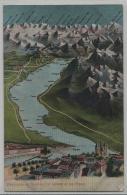 Panorama De Geneve, Lac Leman Et Les Alpes - Litho H. Guggenheim No. 12596 - GE Genf
