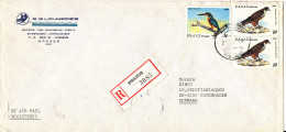 Greece Registered Cover Sent To Denmark 21-3-1980 BIRDS On The Stamps - Lettres & Documents