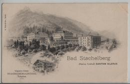 Bad Stachelberg - Station Linthal Kanton Glarus - Litho A. Trüb - GL Glaris