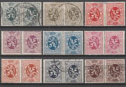 Belgique 1929-32 - N° 279a à 285Aa (279 A - 285 Aa) Tête-bêche Oblitérés (2 Scans) - Used Stamps