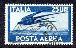 T1698 - REPUBBLICA 1945 , Posta Aerea Il  25 Lire N. 131 Usato .  Democratica - 6. 1946-.. Repubblica