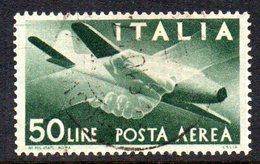 T1699 - REPUBBLICA 1945 , Posta Aerea Il  50 Lire N. 132 Usato .  Democratica - 6. 1946-.. Repubblica