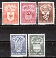 756/60**  Armoiries - Série Complète - MNH** - COB 32 - Vendu à 12.50% Du COB!!!! - Belgium