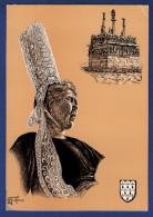 29 SAINT-JEAN-TROLIMON Coiffe Du Pays Bigouden ; Calvaire De Tronoën - Animée Par H. Touleron - Saint-Jean-Trolimon