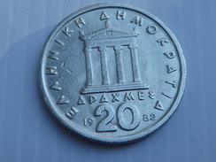 Grece  20 Drachmes   1982  KM#133  Cupro Nickel PERICLES    TTB - Griekenland