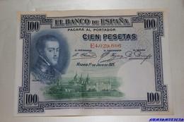 BILLETE 1  JULIO 1925 CIEN PESETAS - [ 1] …-1931 : Premiers Billets (Banco De España)