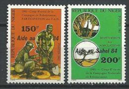 "Niger YT 657 Et 658 "" Aide Au Sahel "" 1984 Neuf** - Níger (1960-...)"