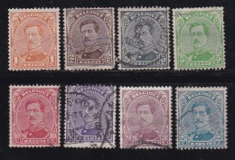 BELGIUM, 1915, Used Stamp(s), Albert I, MI 113-120,  #10280, Complete - Postzegels