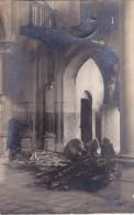 Liberchies - Intérieur De L'église Incendiée (curé, Cloches, 1920, Carte-photo) (vente Unique) - Pont-a-Celles