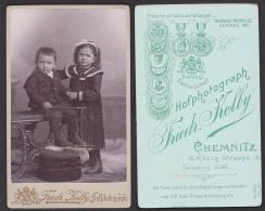 Chemnitz Friedr(ich) Kolby Photo Hof-Photograph, Foto, Um 1900 Sehr Gute Erhaltung, Kinder Junge Mädchen - Fotografie