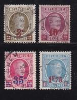 BELGIUM, 1927, Used Stamp(s), Albert I, Plus Surcharges, MI 223-226,  #10291, Complete - 1921-1925 Small Montenez