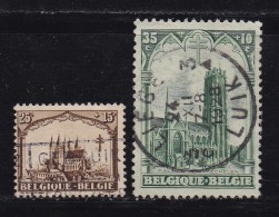 BELGIUM, 1928, Used Stamp(s), Trappist Abdy Orval,  MI 235=243,  #10294, 2 Values Only - 1922-1927 Houyoux