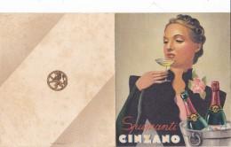 MENU'PUBBLICITARIO SPUMANTI CINZANO SALUZZO ALBERGO CORONA GROSSA  DUE SCANNER  2 0882- 26331-332 - Menus