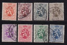 BELGIUM, 1929, Used Stamp(s), Definitives,  MI 254-261,  #10296, Complete - Stamps